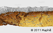 Physical Panoramic Map of Temixco