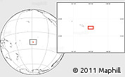 """Blank Location Map of the area around 18°1'4""""S,147°49'29""""W"""
