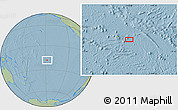 """Savanna Style Location Map of the area around 18°1'4""""S,147°49'29""""W, hill shading"""