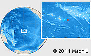 """Shaded Relief Location Map of the area around 18°1'4""""S,147°49'29""""W"""