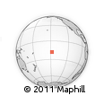 """Outline Map of the Area around 18° 1' 4"""" S, 147° 49' 29"""" W, rectangular outline"""