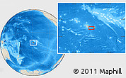 "Shaded Relief Location Map of the area around 18° 1' 4"" S, 148° 40' 30"" W"