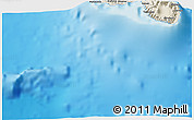 """Shaded Relief 3D Map of the area around 18°1'4""""S,149°31'30""""W"""