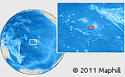 "Shaded Relief Location Map of the area around 18° 1' 4"" S, 150° 22' 30"" W"