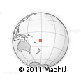 Outline Map of Fiji Islands, rectangular outline
