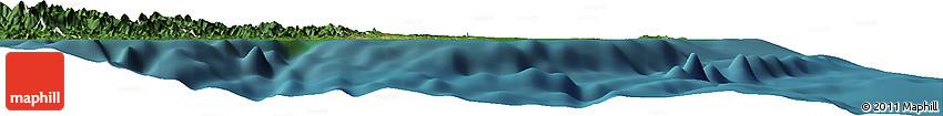 """Satellite Horizon Map of the Area around 18° 1' 4"""" S, 178° 34' 29"""" E"""