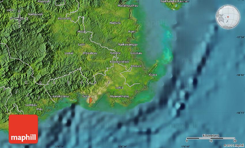 Satellite Map of Suva