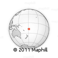 Outline Map of Nukunuku, rectangular outline