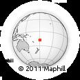 Outline Map of Moala Island, rectangular outline