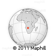 Outline Map of Bengo, rectangular outline