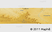 """Physical Panoramic Map of the area around 18°1'4""""S,28°58'30""""E"""