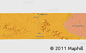"""Political Panoramic Map of the area around 18°1'4""""S,28°58'30""""E"""