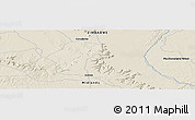 """Shaded Relief Panoramic Map of the area around 18°1'4""""S,28°58'30""""E"""