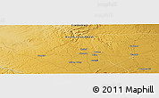 "Physical Panoramic Map of the area around 18° 1' 4"" S, 29° 49' 30"" E"