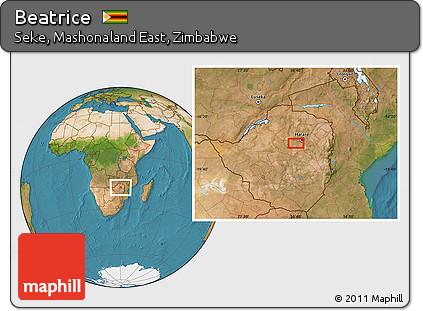 Free Satellite Location Map of Beatrice