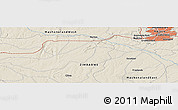 Shaded Relief Panoramic Map of Harare