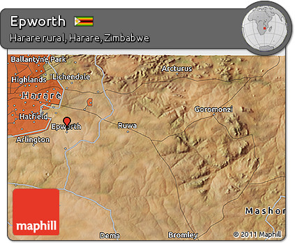 Free Satellite 3D Map of Epworth