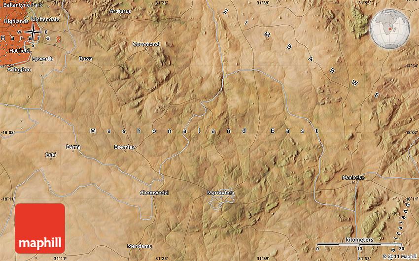 Satellite Map of Epworth