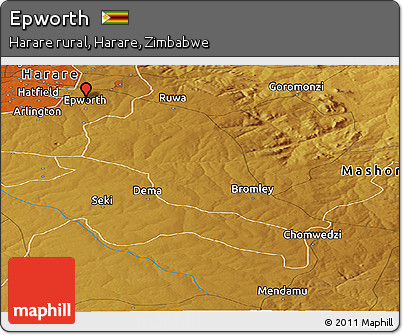 Free Physical Panoramic Map of Epworth