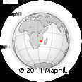 Outline Map of Quelimane, rectangular outline