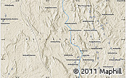 Shaded Relief Map of Ampahibato