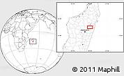 Blank Location Map of Ambatondrazaka