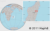 Gray Location Map of Ambatondrazaka