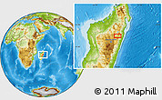 Physical Location Map of Ambatondrazaka