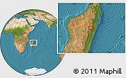 Satellite Location Map of Ambatondrazaka
