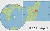 Savanna Style Location Map of Ambatondrazaka