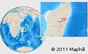 Shaded Relief Location Map of Ambatondrazaka