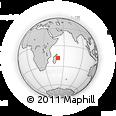 "Outline Map of the Area around 18° 1' 4"" S, 51° 4' 30"" E, rectangular outline"