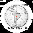 Outline Map of Las Troncas, rectangular outline