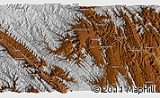 """Physical 3D Map of the area around 18°1'4""""S,65°22'30""""W"""