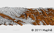 """Physical Panoramic Map of the area around 18°1'4""""S,65°22'30""""W"""