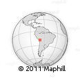 Outline Map of Socoroma, rectangular outline