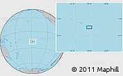 """Gray Location Map of the area around 18°31'34""""S,147°49'29""""W"""