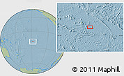 """Savanna Style Location Map of the area around 18°31'34""""S,147°49'29""""W, hill shading"""