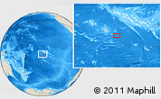 """Shaded Relief Location Map of the area around 18°31'34""""S,147°49'29""""W"""