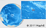 "Shaded Relief Location Map of the area around 18° 31' 34"" S, 148° 40' 30"" W"