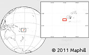 """Blank Location Map of the area around 18°31'34""""S,176°52'30""""E"""