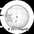 Outline Map of Vanuavatu, rectangular outline