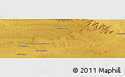 Physical Panoramic Map of Gwelutshena