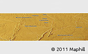 """Physical Panoramic Map of the area around 18°31'34""""S,30°40'29""""E"""