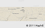 """Shaded Relief Panoramic Map of the area around 18°31'34""""S,30°40'29""""E"""