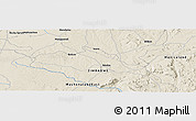 """Shaded Relief Panoramic Map of the area around 18°31'34""""S,31°31'29""""E"""