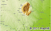 """Physical Map of the area around 18°31'34""""S,34°4'30""""E"""