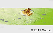 """Physical Panoramic Map of the area around 18°31'34""""S,34°4'30""""E"""