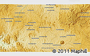 """Physical 3D Map of the area around 18°31'34""""S,45°58'30""""E"""