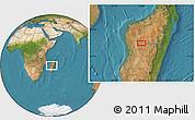 "Satellite Location Map of the area around 18°31'34""S,45°58'30""E"